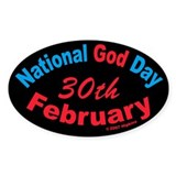 National God Day Oval Decal