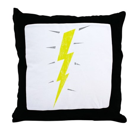Lightning Bolt (Vintage) Throw Pillow