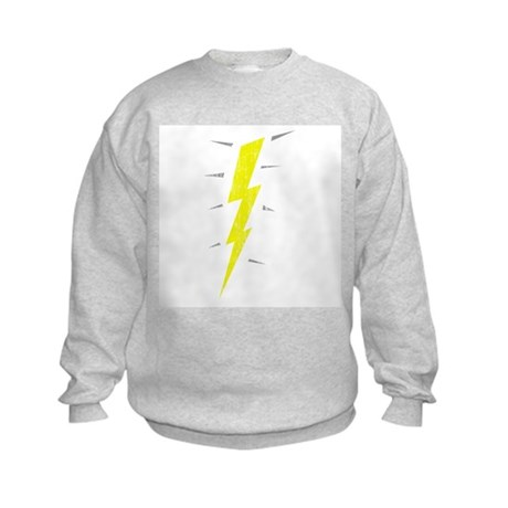 Lightning Bolt (Vintage) Kids Sweatshirt