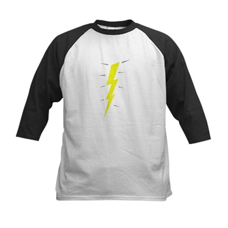 Lightning Bolt (Vintage) Kids Baseball Jersey