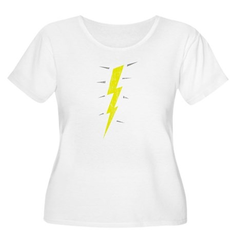 Lightning Bolt (Vintage) Womens Plus Size Scoop N