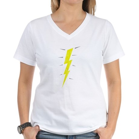 Lightning Bolt (Vintage) Womens V-Neck T-Shirt