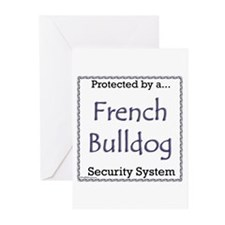 Frenchie Security Greeting Cards (Pk of 20)