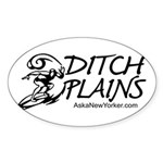 DITCH PLAINS Oval Sticker