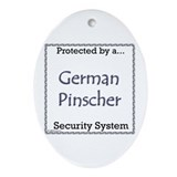 German Pinscher Security Oval Ornament