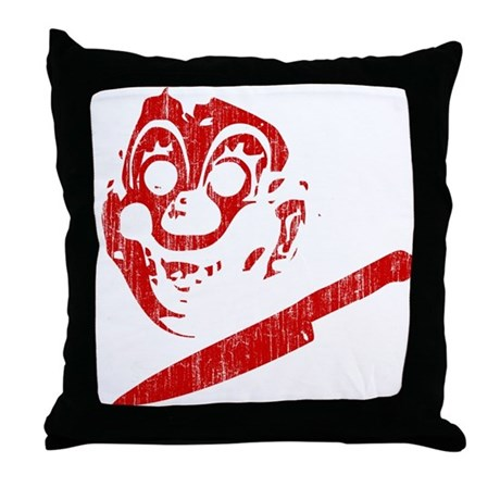 Michael Myers Clown Mask Throw Pillow