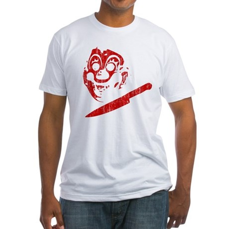 Michael Myers Clown Mask Fitted T-Shirt