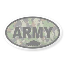 Camo ARMY Tank Oval Decal