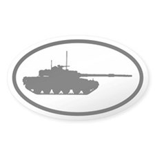ARMY Tank Oval Decal