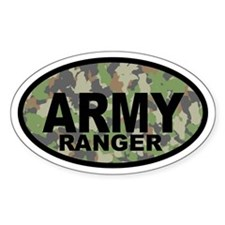 Camo ARMY Ranger Oval Decal
