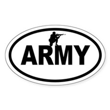 ARMY Soldier Oval Decal