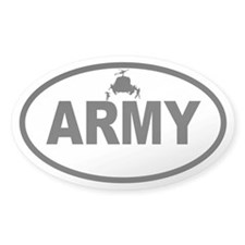 ARMY Helicopter Oval Decal