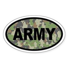 Camo ARMY Oval Decal