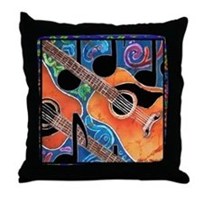 Guitar<br> Throw Pillow