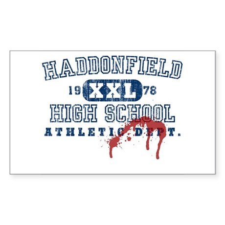 Property of Haddonfield High Sticker (Rectangular