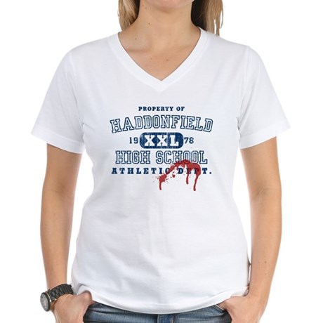 Property of Haddonfield High Womens V-Neck T-Shi