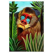 Henri Rousseau Mandrill In The Jungle