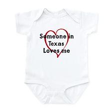 Loves me: Texas Infant Bodysuit