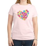 Love & Peace in Heart Women's Light T-Shirt