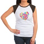 Love & Peace in Heart Women's Cap Sleeve T-Shirt