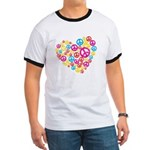 Love & Peace in Heart Ringer T