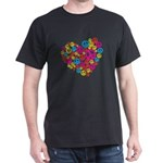 Love & Peace in Heart Dark T-Shirt