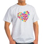 Love & Peace in Heart Light T-Shirt