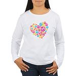 Love & Peace in Heart Women's Long Sleeve T-Shirt