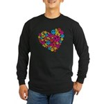 Love & Peace in Heart Long Sleeve Dark T-Shirt