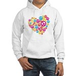 Love & Peace in Heart Hooded Sweatshirt