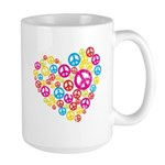 Love & Peace in Heart Large Mug