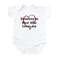 Loves me: West Allis Infant Bodysuit