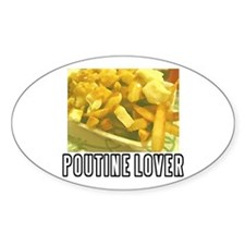 POUTINE Oval Decal