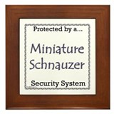 Mini Schnauzer Security Framed Tile