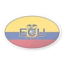 Ecuador flag stickers Oval Decal