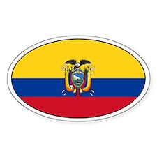 Ecuador flag stickers Oval Decal