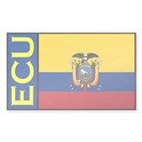 Ecuador flag stickers Rectangle Decal