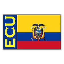 Ecuador flag stickers Rectangle Decal