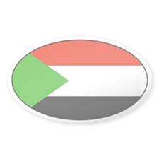 Sudan Country Decals Oval Decal