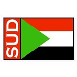 Sudan Country Decals Rectangle Decal