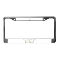 Unique Brain surgery License Plate Frame