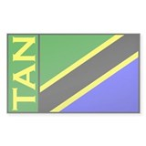 Tanzanian flag stickers Rectangle Decal