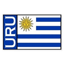 Uruguayan Decals Rectangle Decal