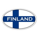 Finnish Bumper Stickerss Oval Bumper Stickers