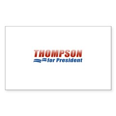 Thompson for President Rectangle Sticker