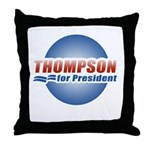 Thompson for President Throw Pillow