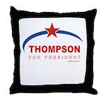 Thompson for President Throw Pillow