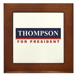 Fred Thompson for President Framed Tile