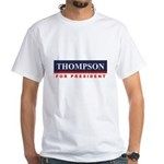 Fred Thompson for President White T-Shirt