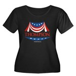 Fred Thompson Women's Plus Size Scoop Neck Dark T-